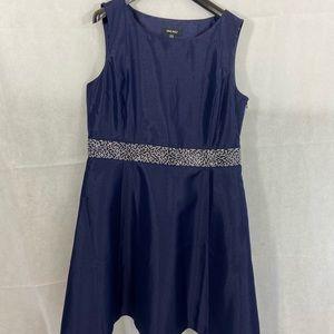 Nine West navy sparkle cocktail dress, size 14